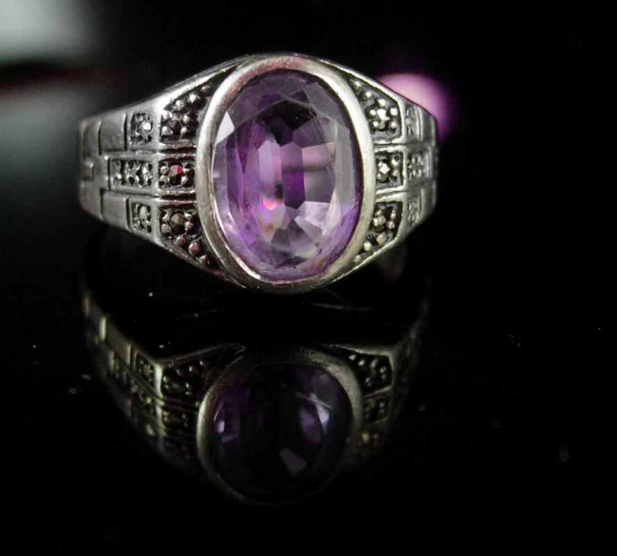 Vintage Jewelry For Women Purple Ring Size 6