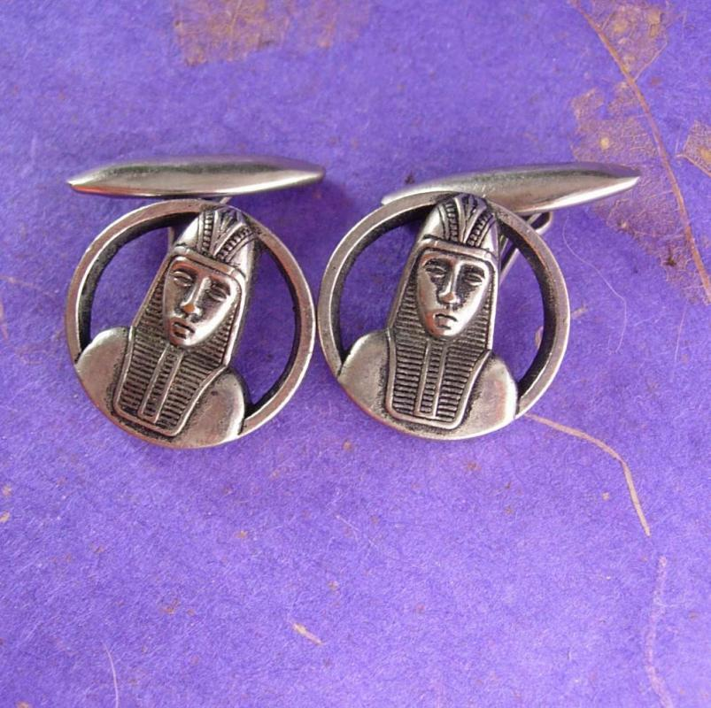 EGYPTIAN Revial Cufflinks Pharoah Button Cuff Links Historical Sleeve Accessory mens cool gift unusual