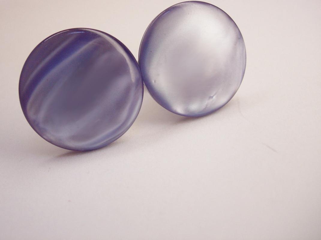 Vintage periwinkle  Blue Moonglow Cufflinks Round Disc Wedding Formal Attire business