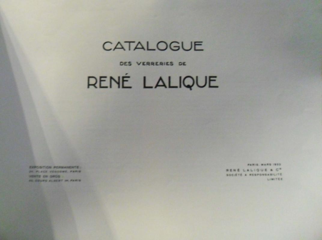 Vintage Lalique Catalogue Des Verreries De Rene Lalique jewelry nudes paperweights & original paperwork