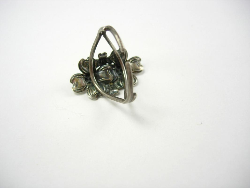 Dogwood blossom Ring Sterling Vintage  Celtic womens religious  Silver Birthday Mothers Day Anniversary beau sterling size 8 - 8 1/4