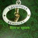 Spinning horse key ring Huge Horseshoe & Horse Vintage Louisville kentucky derby Winner mens Accessory groomsman gift gambler horse racing