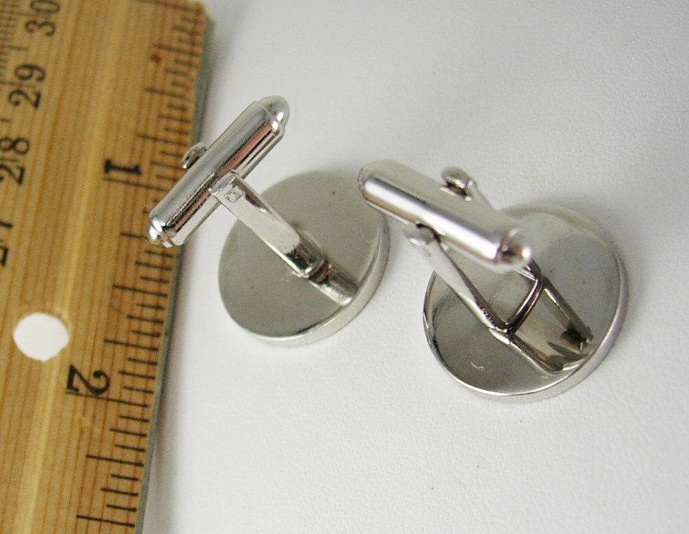 Engravable jewelry / Signet Cufflinks / Vintage Silver set with Diamond Cut Edges /  Anniversary tuxedo / groom cuff links father of bride