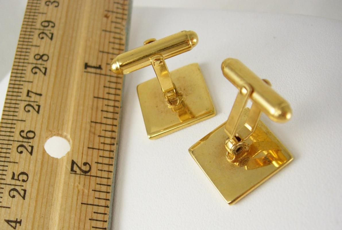 Tic Tac Toe Cufflinks / Vintage Enamel And Gold set / game board jewelry /Kisses And Hugs / I Love You /Anniversary gift for him