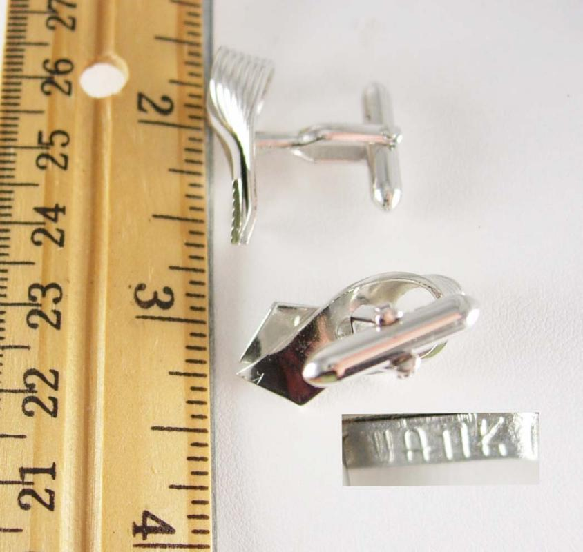 Silver Ribbon Awareness Cufflinks Vintage Breast Cancer Support Hope Survivor Designer Swank Fine Jewelry