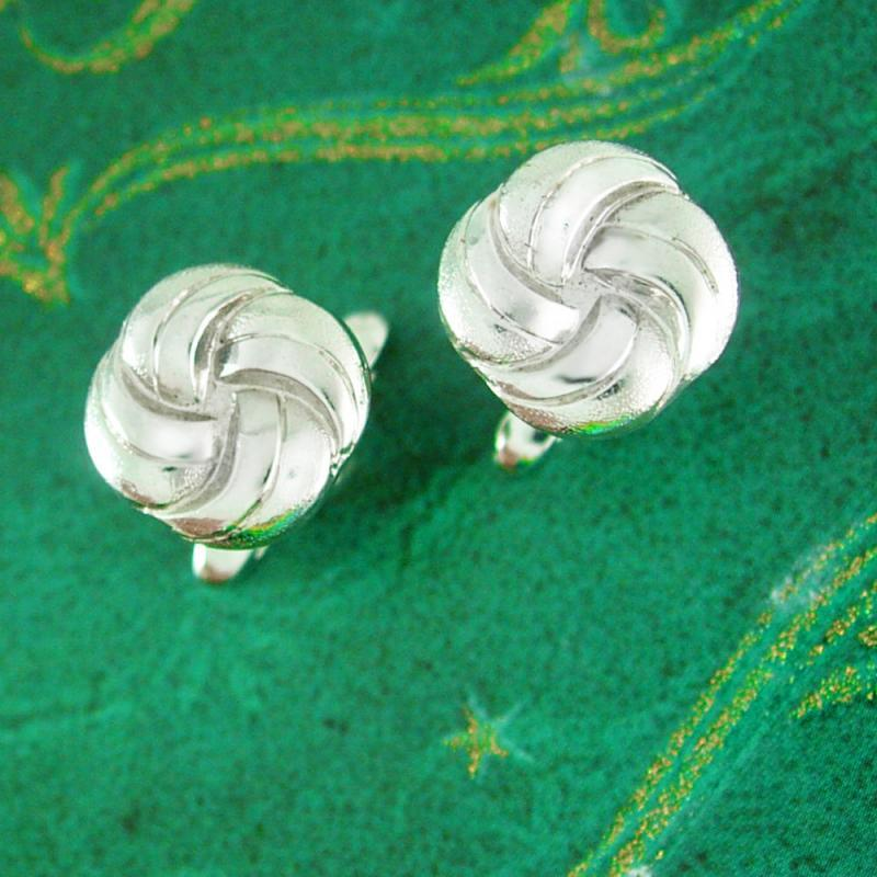 Knot Cuff links Classic Quality Love KNOT Cufflinks Vintage Designer Hickok Silver Jewelry eternity twisted rope nautical wedding groom gift