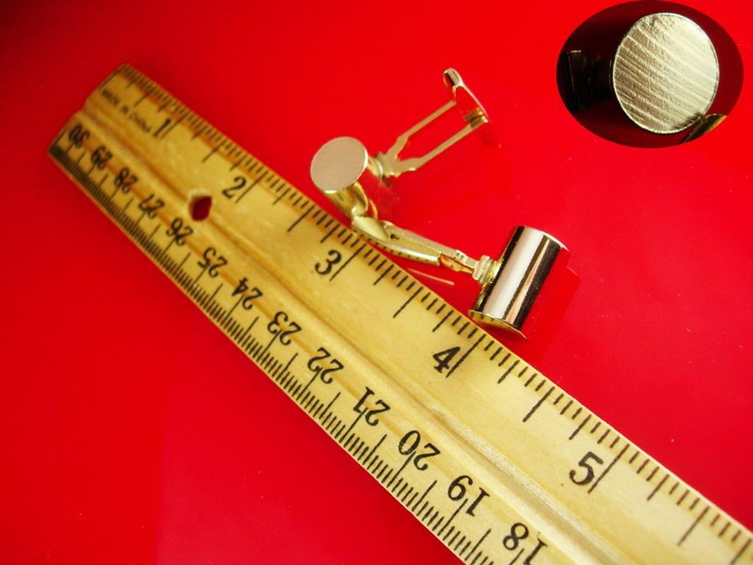 Vintage Industrial Cufflinks Gold rods cylinder Design Heavy Duty Men's Jewelry tuxedo cuff links mens formal wear