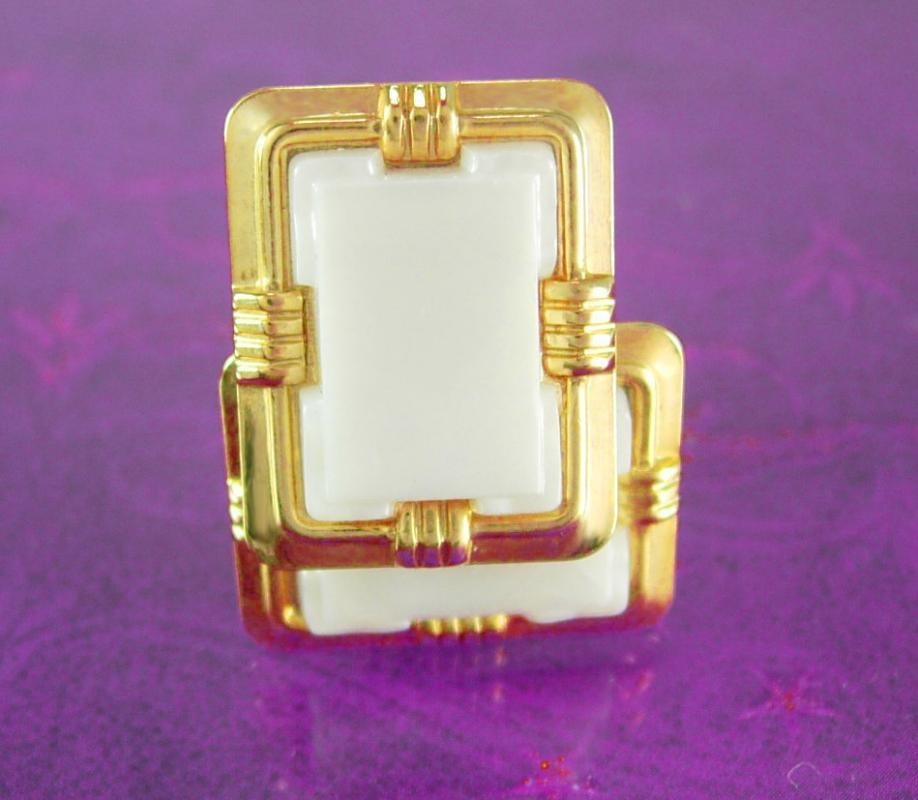 Gold Cuff links * Vintage classic Cufflinks * Tuxedo jewelry * mens Fancy designer Jewelry *  wedding jewellery