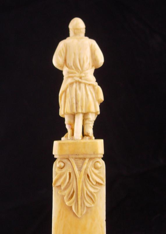ANtique renaissance letter opener / figural metalsmith / medieval soldier /  woodworker gift / mens novelty gift