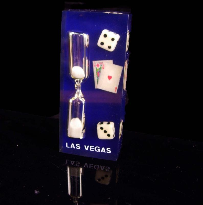 Novelty Dice paperweight / Vintage High Rollers egg timer / casino Las Vegas /  Lucky cards gambling gift / bachelor party / groomsmen gift