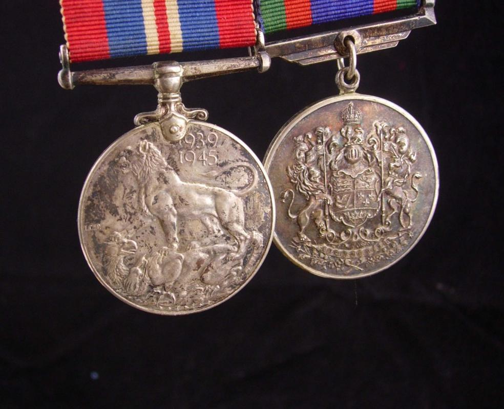 1939 - 1945 sterling medals / military medal set / ww11 medals & ribbons / vintage service medals / lion dragon / army navy  / veteran gift