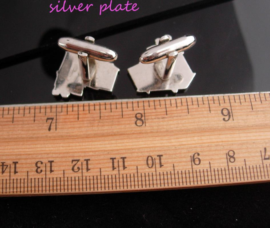 Retro 50's Cufflinks / soda fountain / diner set / Vintage Silver Cufflinks / Cook Chef gift / Business Restaurant / novelty gift/ soda jerk