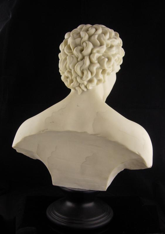 Signed Nude bust / David statue / 17