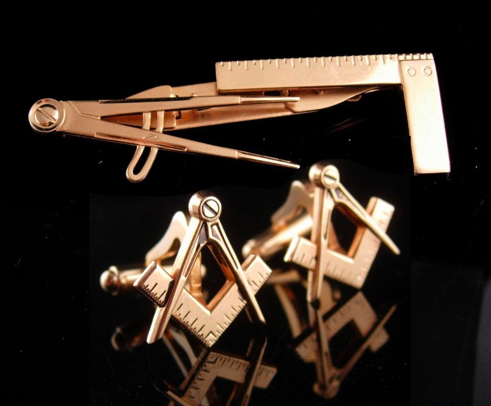 ffbc2e8bb6b6 Vintage L Square compass tie clip / Masonic cufflinks / tool set / drafting  engineer gift / architect gift /mathematician teacher professor