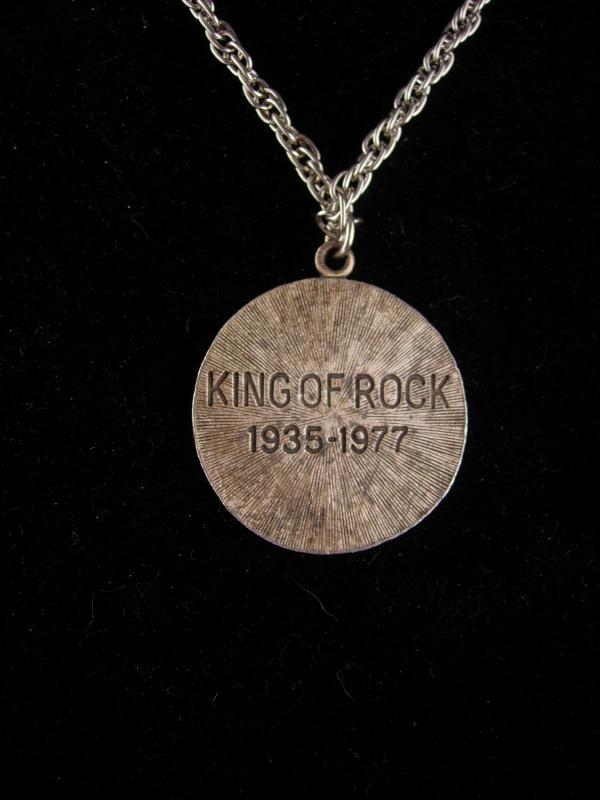 1970's ELVIS necklace - Memphis Tennessee - Rock and roll necklace -  king of rock pendant