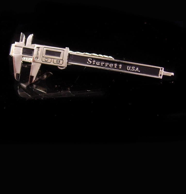 Vintage Caliper tieclip / micrometer tie bar / starrett Industrial Too