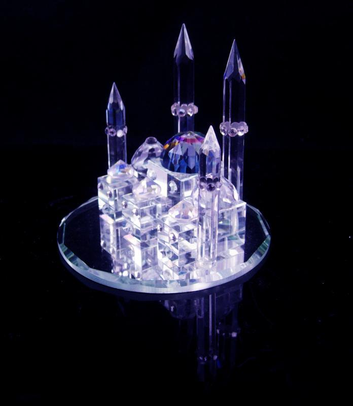 Swarovski Taj Mahal - miniature crystal palace - Ottoman Empire - mirror  base - Persian wedding palace - mausoleum architecture shrine