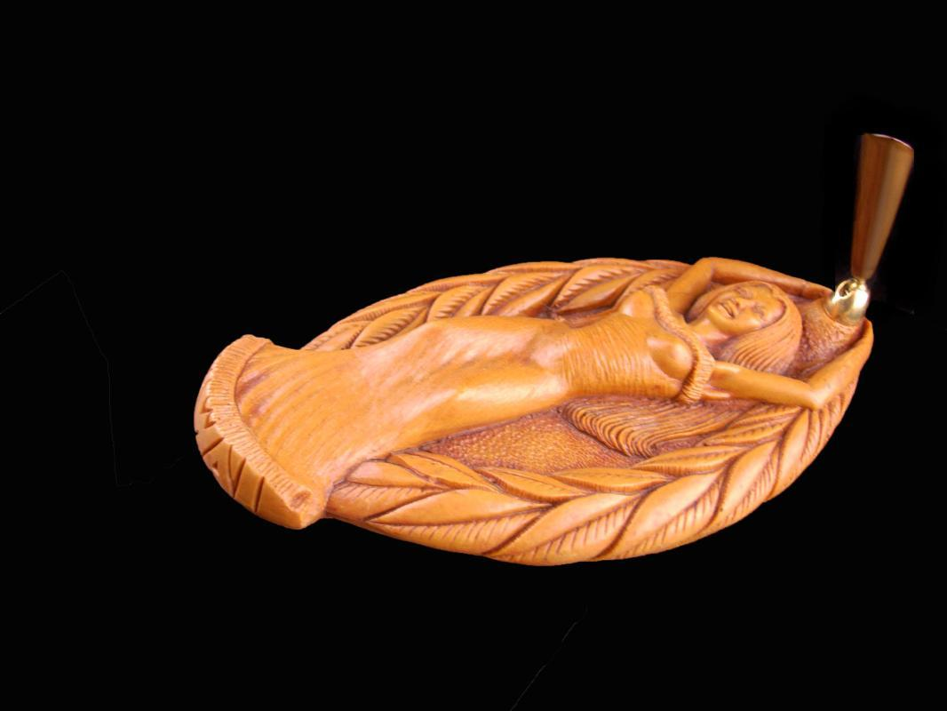 Hula Girl Pen Holder - Vintage Desk set - erotic nude - Hawaii souvenir