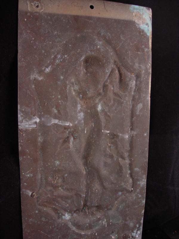 Neptune Antique Relief Plaque - Greek God & Cherub  - 16
