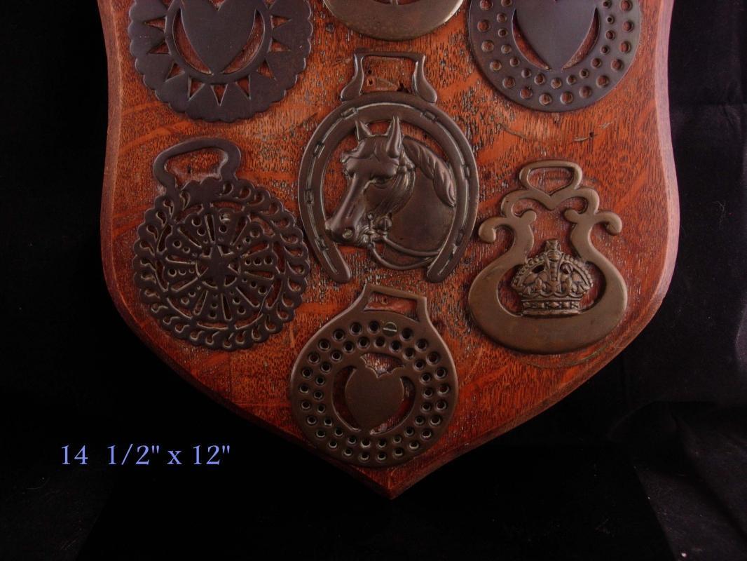 Vintage Horse medallion Plaque  horse bridle medals hanging wall harness trophy