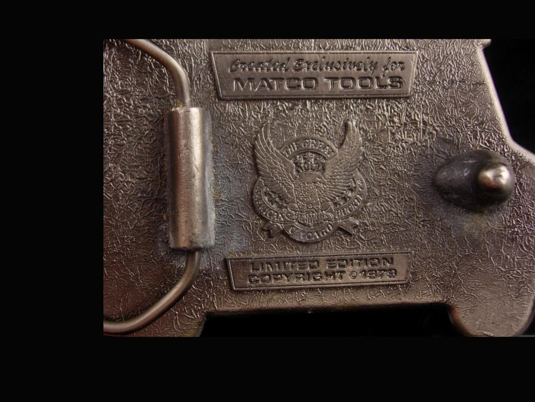 1979 Matco Tool Belt Buckle - Great American buckle co - limited edition - mechanic gift - gift for dad