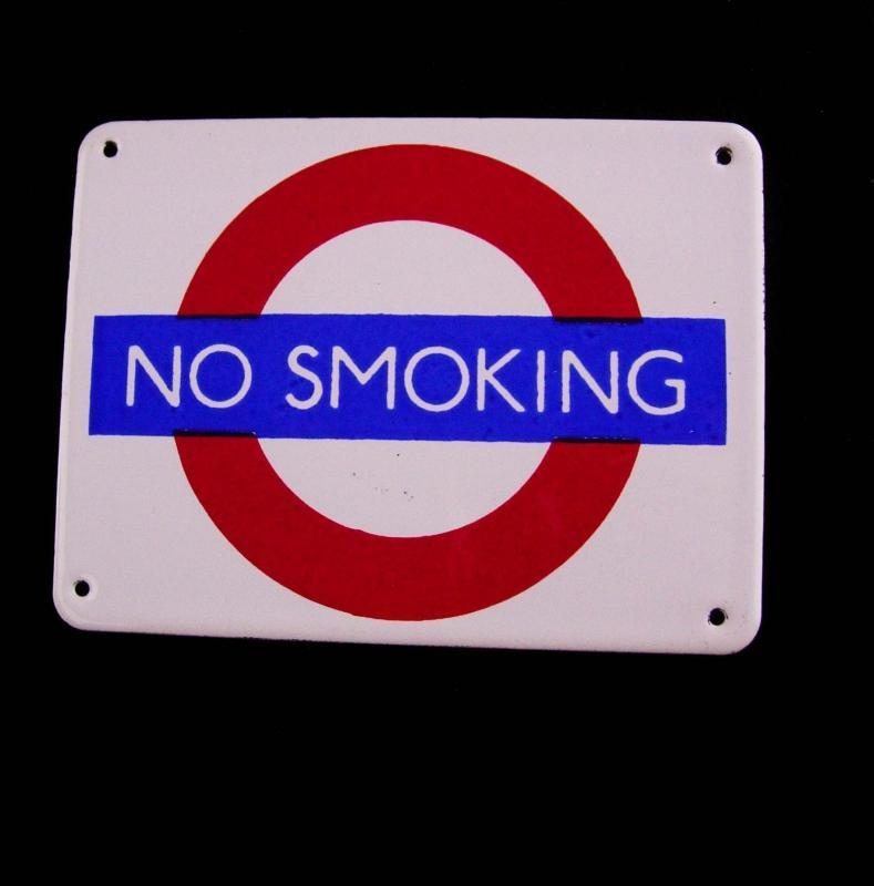 Vintage Enamel No Smoking Sign - Garnier Gifts London - novelty miniature metal sign