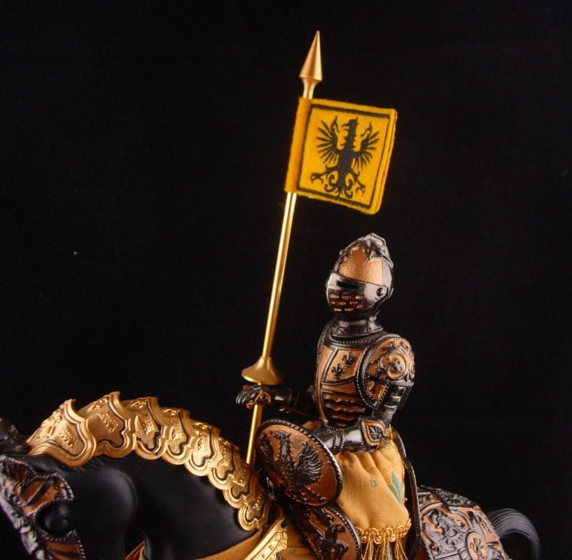 Mounted 16th century Knight - King Arthur - Suit of Armor Gladius Toledo statue 19