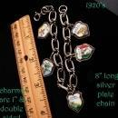 1920's Italian Charm antique Bracelet - double sided charms - 8