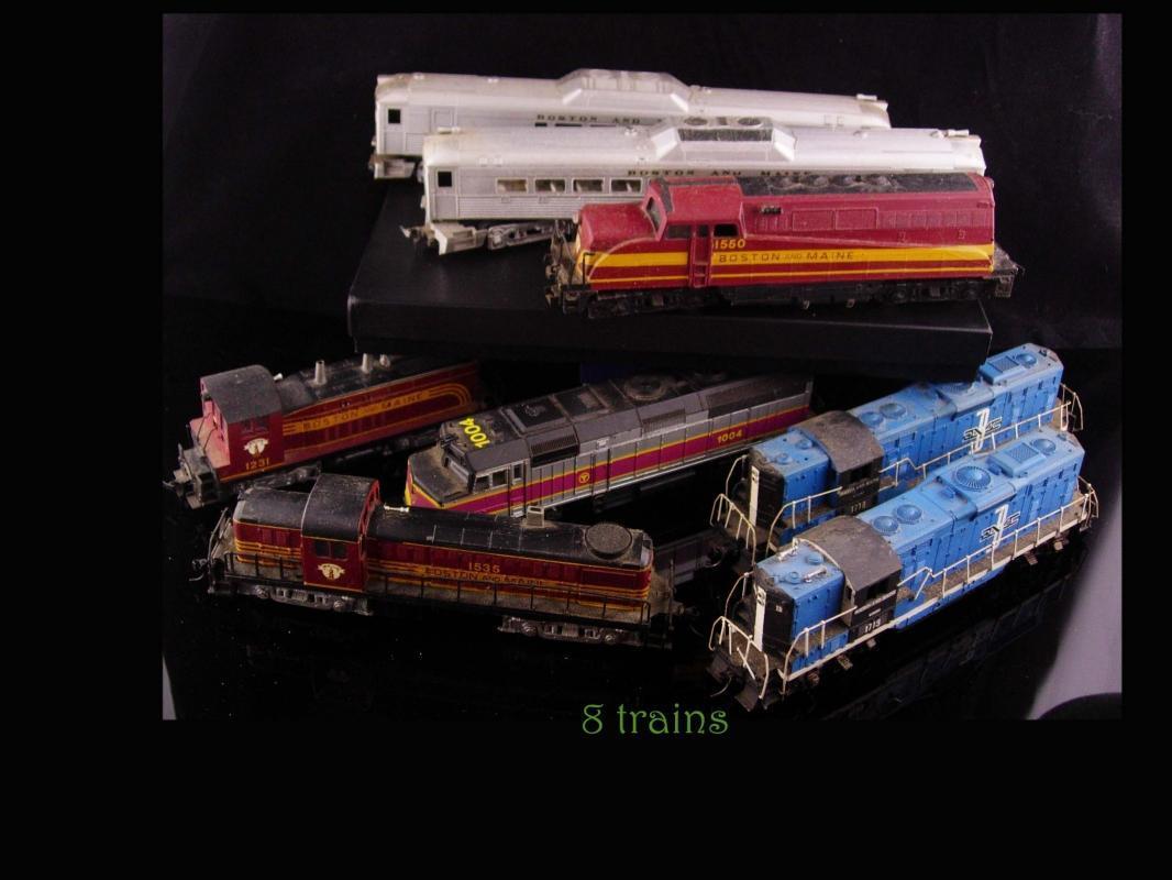8 Vintage Model Trains - Kadee - Boston locomotives - train collection - Lion Chief - life like metal  Railroad HO lot