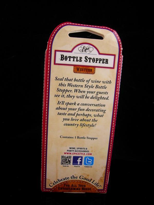 Cowboy Bottle stopper - Vintage Texas Boot Pourer - wine novelty gift - bachelor party -  stocking stuffer