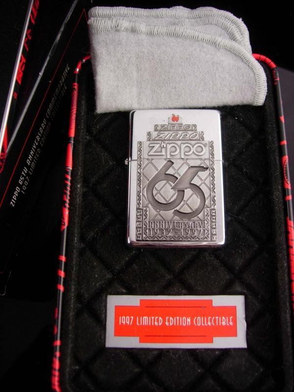 Vintage Zippo lighter 65th anniversary collectible 1997 presentation tin original paperwork never opened