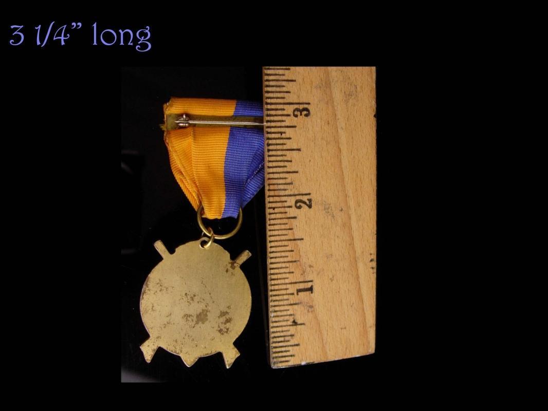 Masonic Medal - National sojourner Heroes of 76 - ribbon enamel medal - freemason military