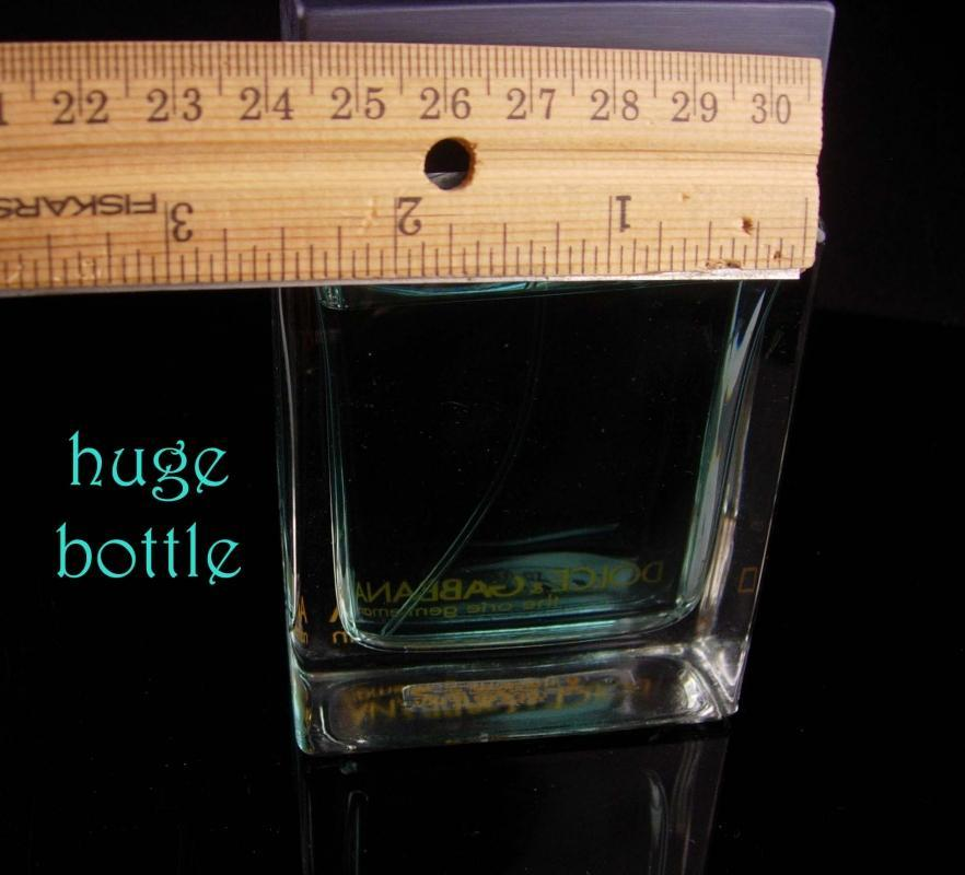 3.3 Oz Dolce & Gabana cologne - The one Gentleman - Vintage large bottle