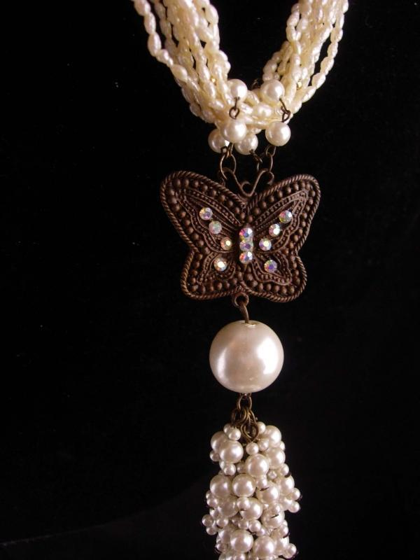 Vintage Flapper Pearl necklace - 6