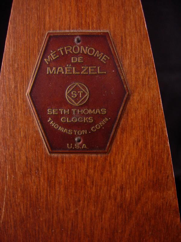 Vintage Seth Thomas Metronome - wood De Maelzel timer - music gift - musician collectible