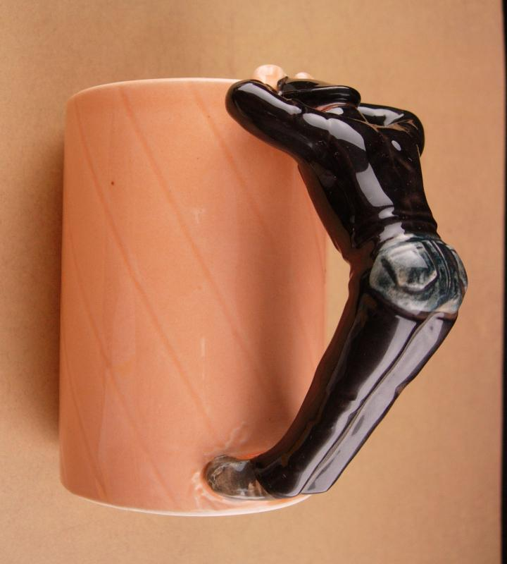 1980 Village People Cup - leatherman Glenn Hughes - biker gift - gay interest - Chaps and leather