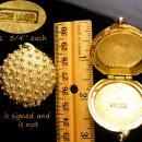 Vintage Perfume Compact lot - estee lauder locket - sputnik design - Miniature solid empty perfume lot