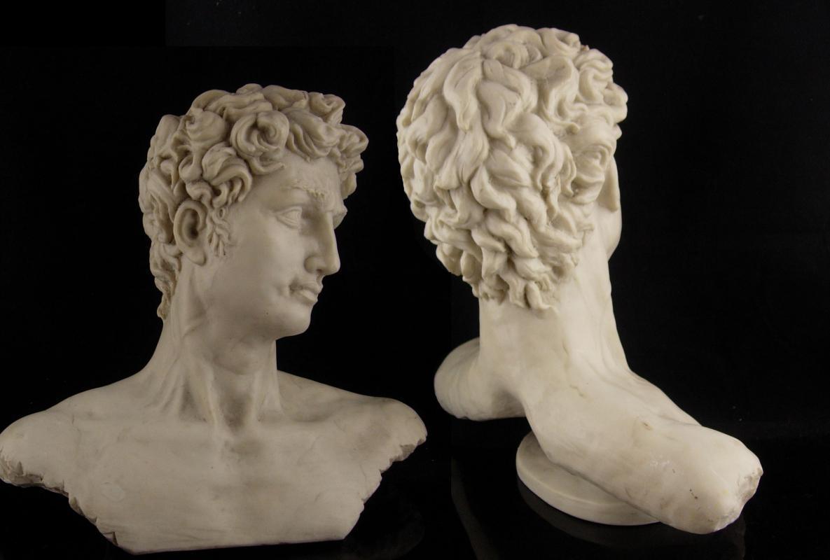 Vintage Nude bust / David statue / 11