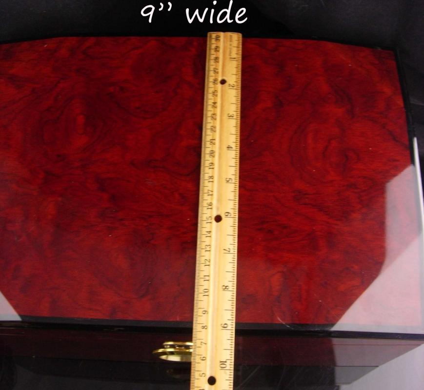 Cherry wood Hygrometer Cigar Case - 14