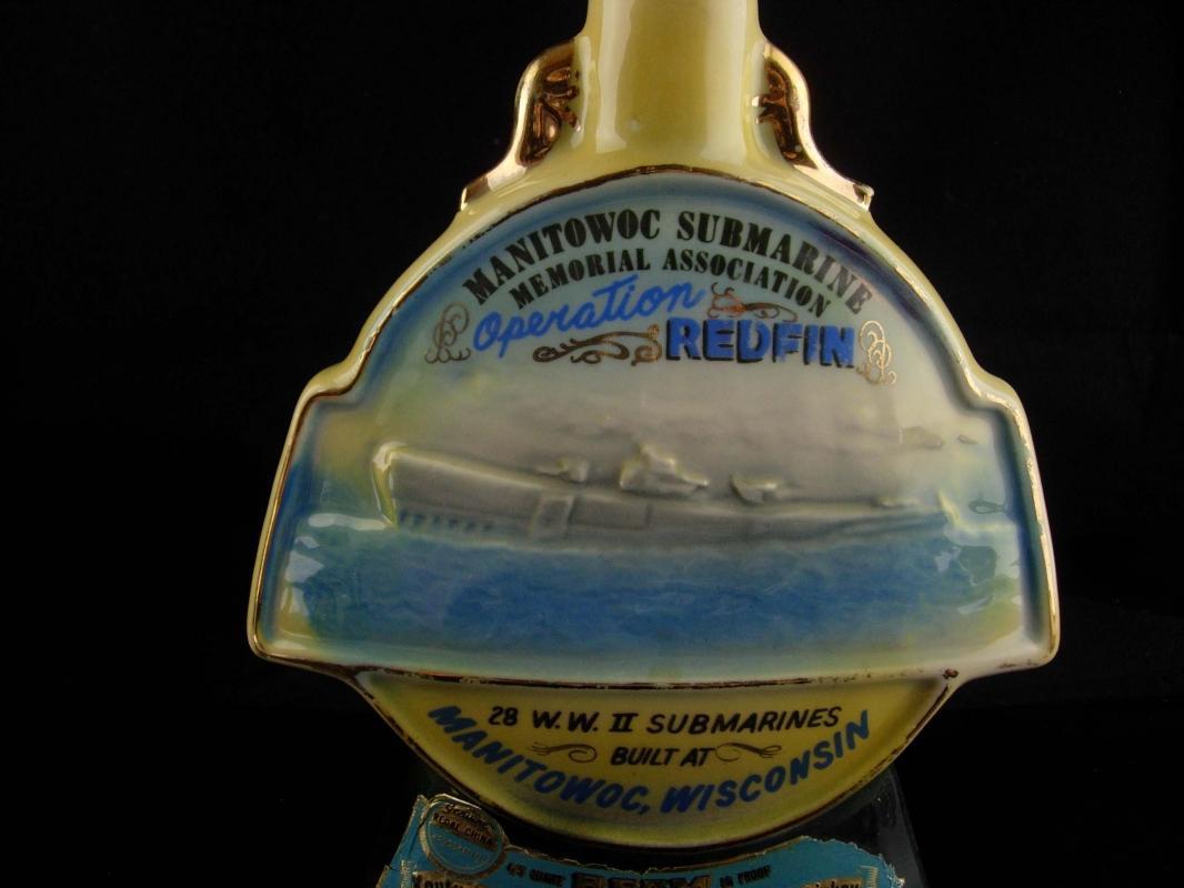 Submarine Bottle - Sailor gift - Manitowoc - Operation Redfin - ww11 Jim Bean bottle - Wisconson bar gift