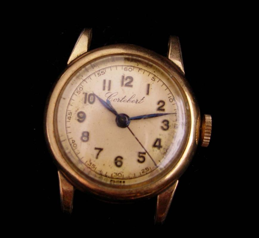1930s Cortebert watch -  ladies military time - vintage swiss wristwatch
