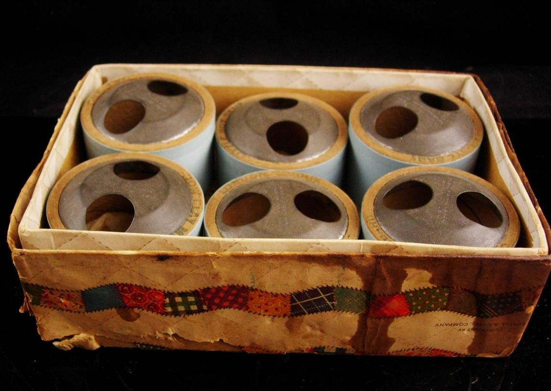 Set of 6 Antique music Cylinders - Madame Hendren - phonograph composition doll - Mae Starr talking doll  -Averill Manufacturing Company