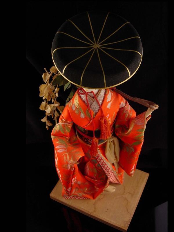 Vintage large Geisha doll - glass eyes - Oriental Asian art - japanese costume - 19