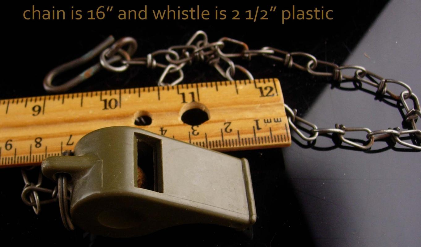 1948 US Army whistle Vintage military accessory - veteran gift