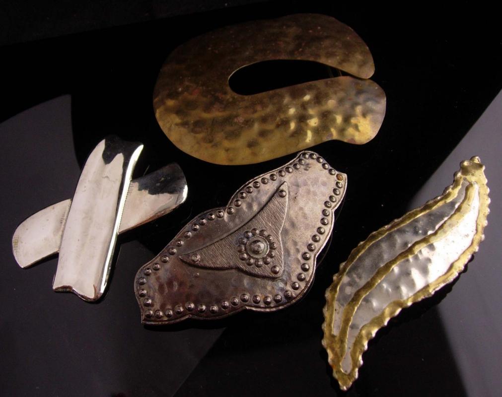Vintage HUGE costume buckle lot - oversize stage costume accessories - renaissance design