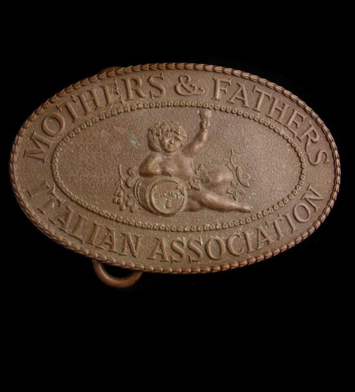 Antique Tiffany Belt Buckle - Sicily Cherubs - mothers fathers - Italian - siedluncswesen american German immigrant dept - cansevoort