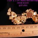 HUGE Rhinestone Brooch - Vintage statement pin - 3