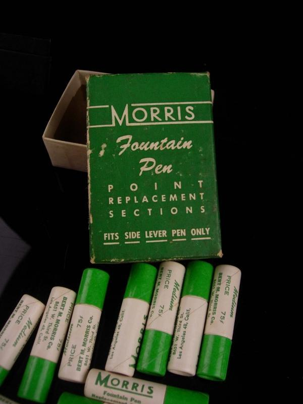 12 vintage morris Fountain pen nibs - original box -  gold replacement - calligraphy writers  gift - executive boss gift reporter