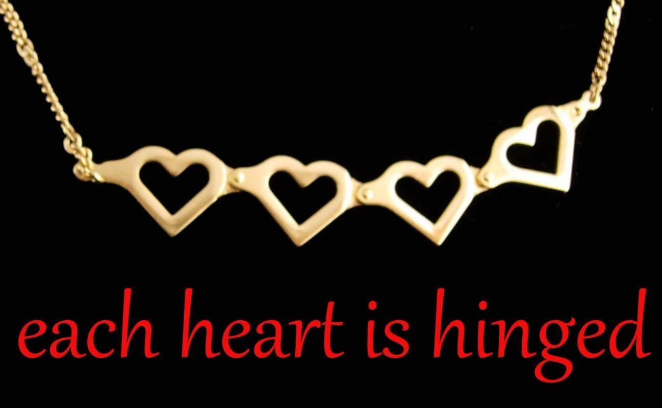 Hinged Heart Necklace - sweetheart jewelry - 20