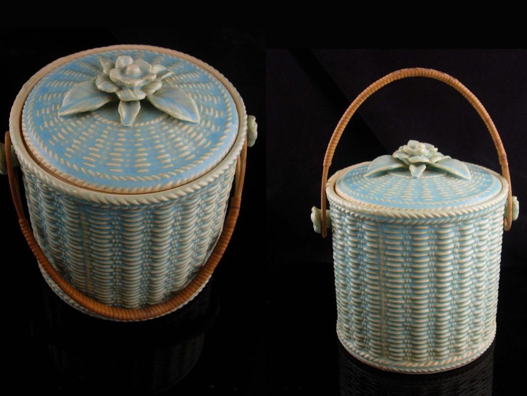 Antique Biscuit jar - japanese pottery - vintage 7